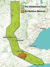 The Haldimand Tract, Six Nations Reserve map