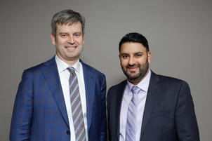 Photo of two Conavi Medical co-founders
