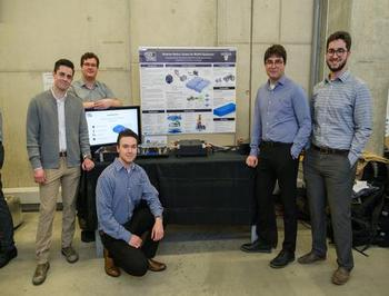Five males with Capstone Design project