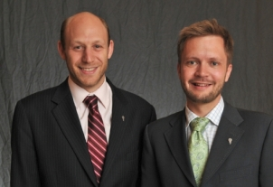 George Roter and Parker Mitchell of Engineers Without Borders