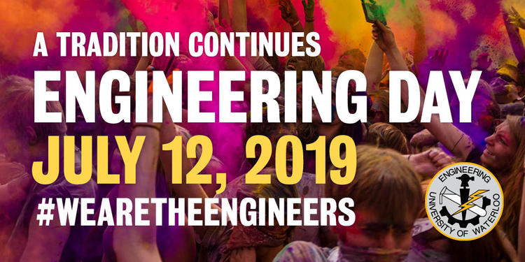 Engineering Day banner with purple colour throw