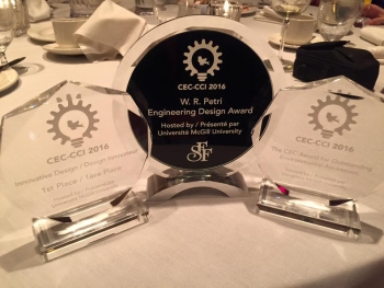 Canadian Engineering Competition awards won by Innovative Design Challenge winners