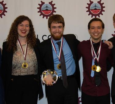 First place in the Programming challenge was awarded to Waterloo software engineering students Jasper Chapman-Black, Céline O'Neil and Sean Purcell.