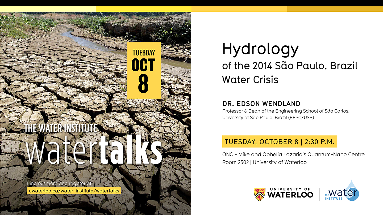 WaterTalk Brazil water crisis flyer