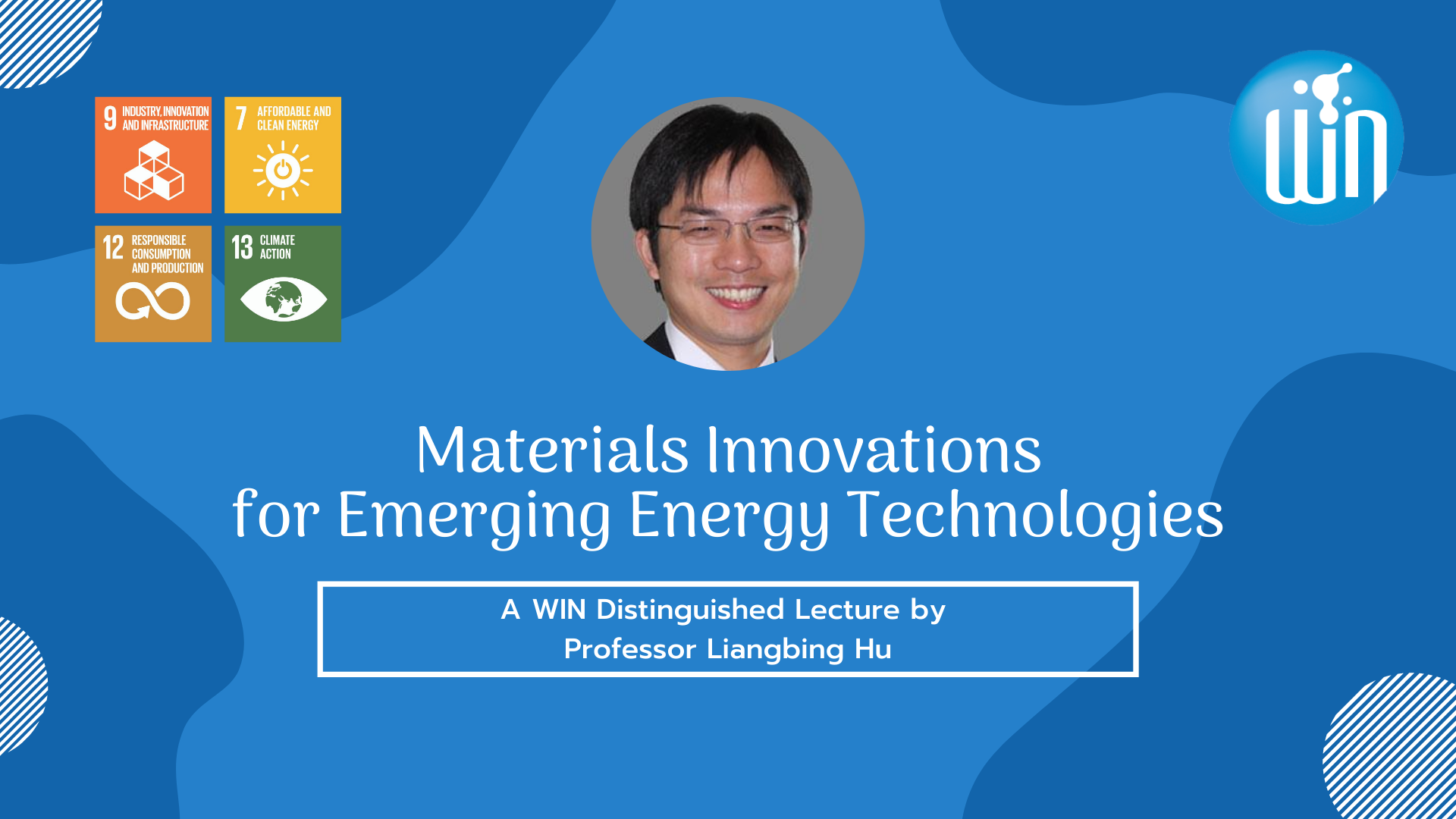 Event poster for WIN distinguished lecture series