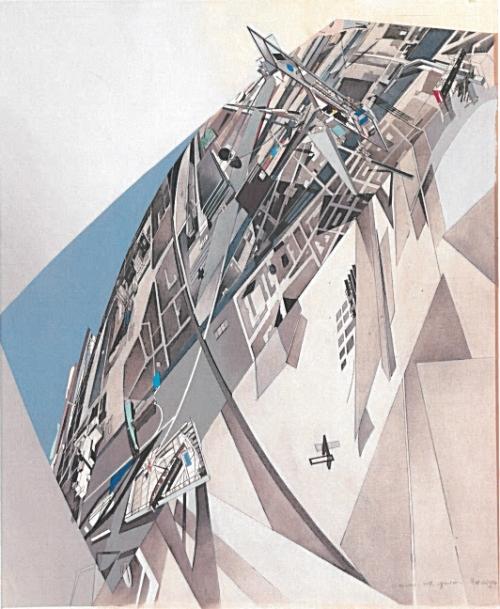 Zaha Hadid's The World (89 Degrees) from the Collection of the Alvin Boyarsky Archive. Courtesy of Zaha Hadid Architects.