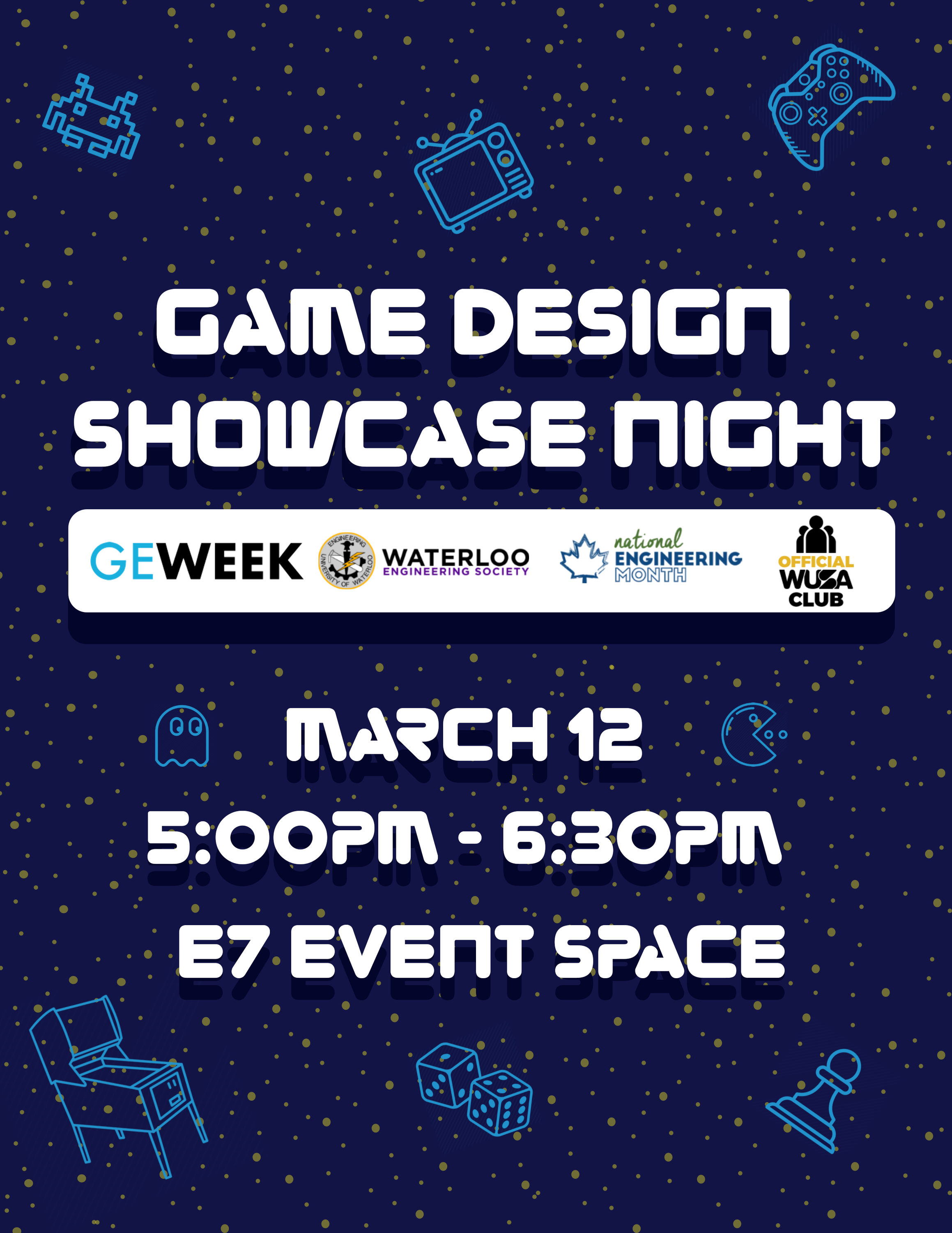 Game Night + Design Showcase Banner