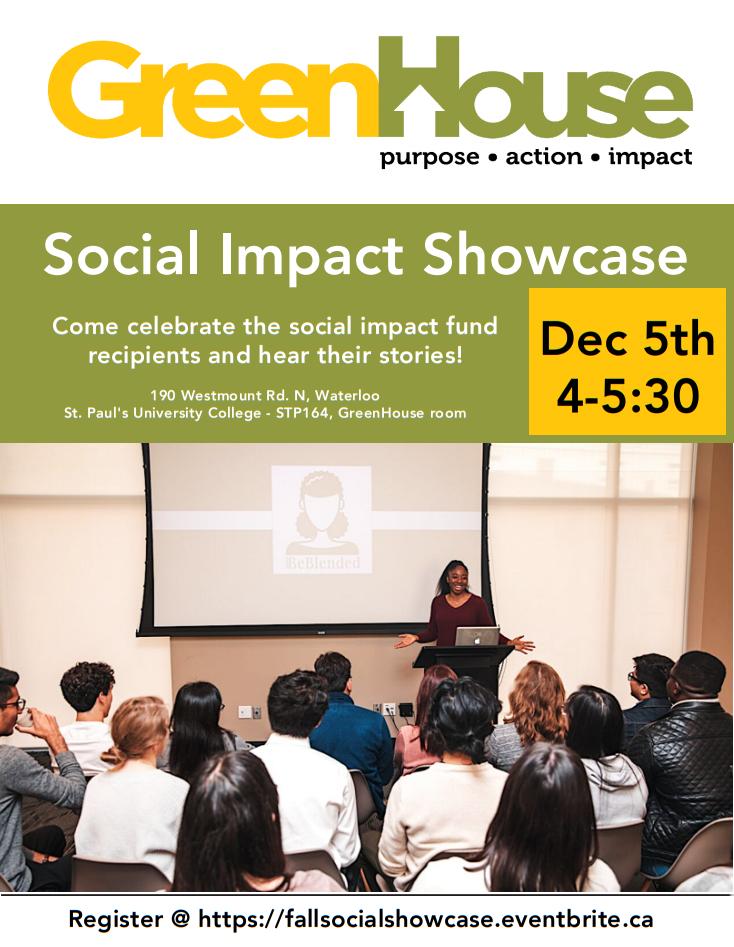 Greenhouse social impact showcase poster