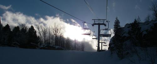 Ski lift at Osler Bluff Ski Club
