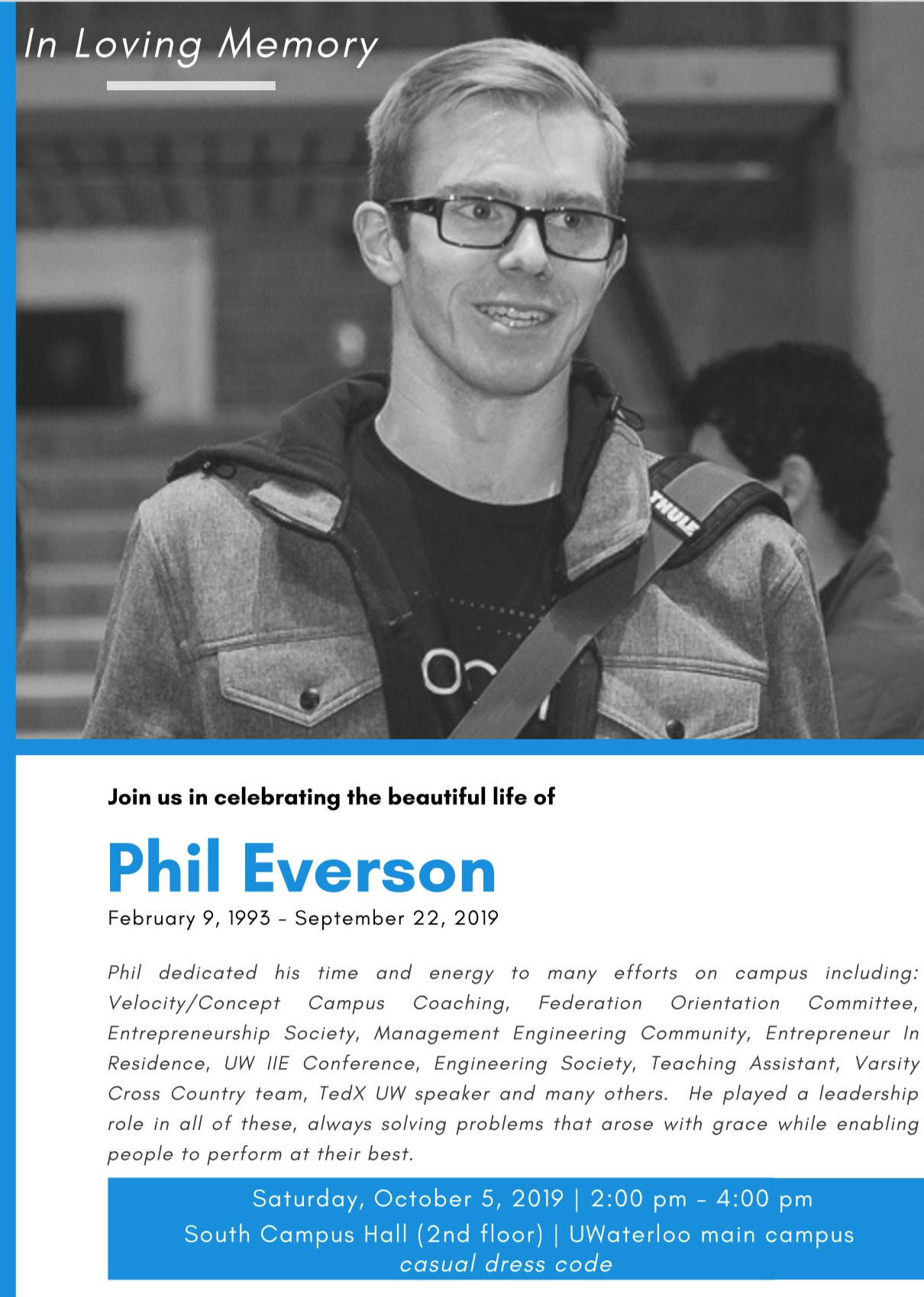 Memorial event for Phil Everson