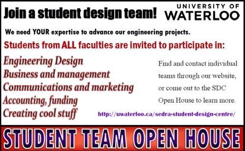 Student Design Team Open House Info
