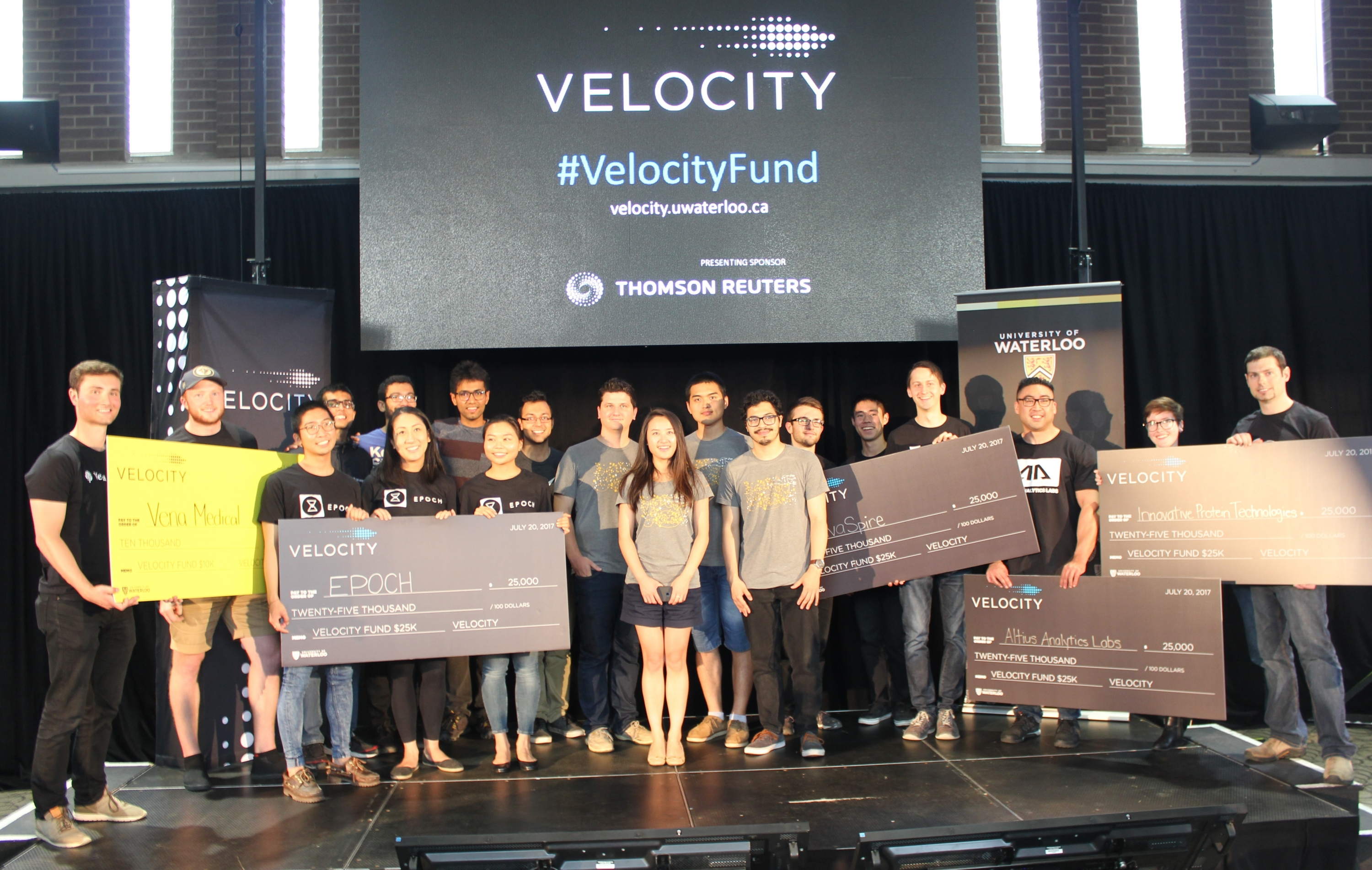 Winners at the Velocity Fund Finals