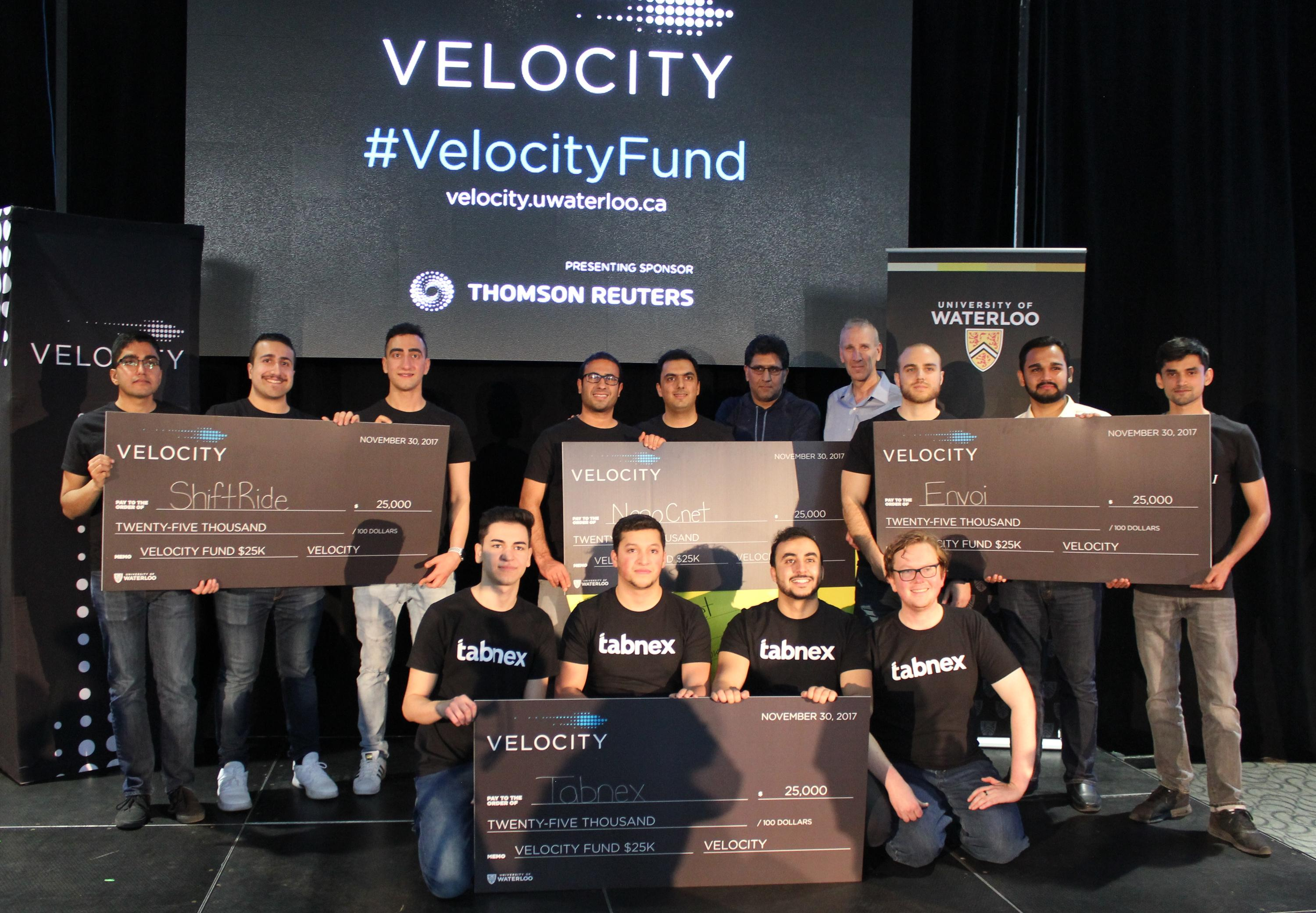 Winners of the fall 2017 Velocity Fund Finals.