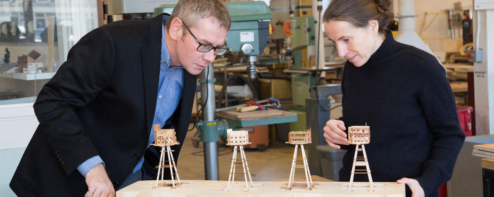 Scott Walbridge, director of architectural engineering, and Anne Bordeleau, director of the School of Architecture