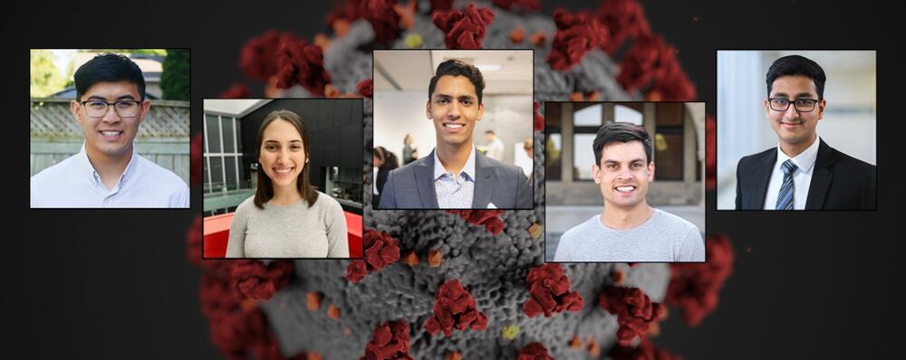 Waterloo Engineering students who build antibody tracker.