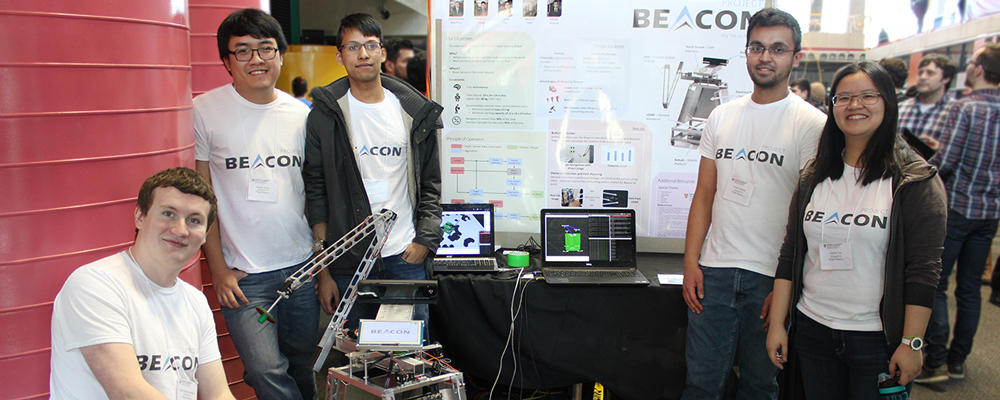 "Capstone Design team ""Beacon"" showcases their project"