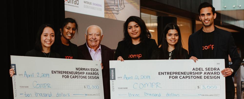 compr team members pose with Adel Sedra