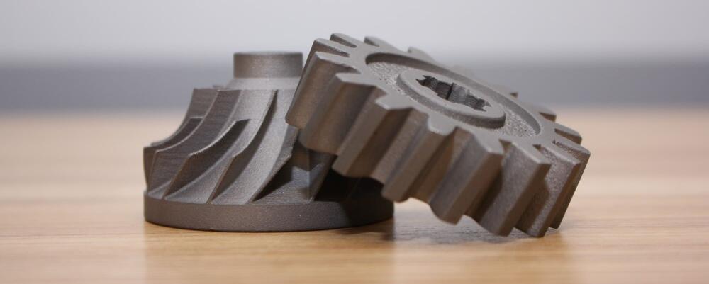 Metal gears printed at the MSAM lab.