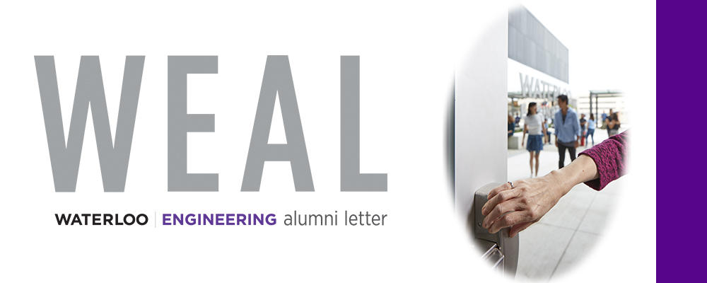 WEAL logo with a photo of Pearl's hand