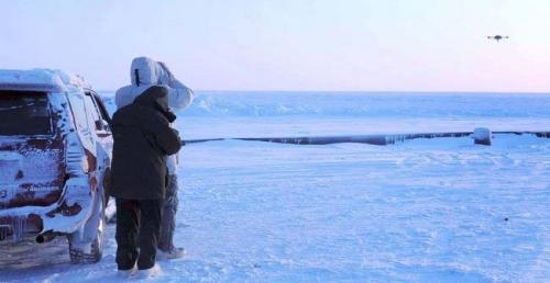 Aeryon's Scout in Nome, Alaska; photo curtesy of Aeryon Labs