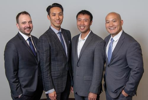 Flipp Corporation founders (left to right) David Meyers, David Au-Yeung, Matthew Cheung and Wehuns Tan at the 2018 Awards Dinner.
