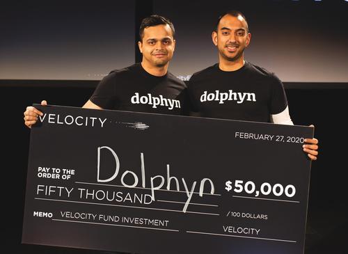 Omkar Deshmukh (left) and Waterloo Engineering graduate Rohit Rajan of Dolphyn.