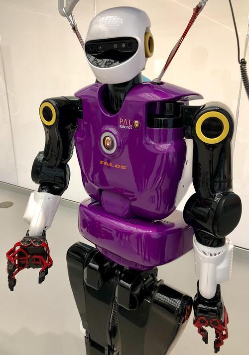 TALOS, the new humanoid robot in RoboHub at Waterloo Engineering.