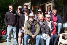 Several members of the Class of 1974 on annual canoe trip