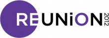 Reunion 2012 wordmark (engineering purple)