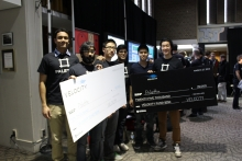 Palette team holding winnings