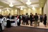 Attendees mingle around at the faculty dinner