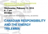 Canadian Responsibility and the Energy Trilemma