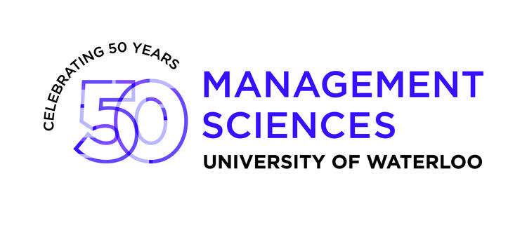 Department of Management Sciences 50th Anniversary logo