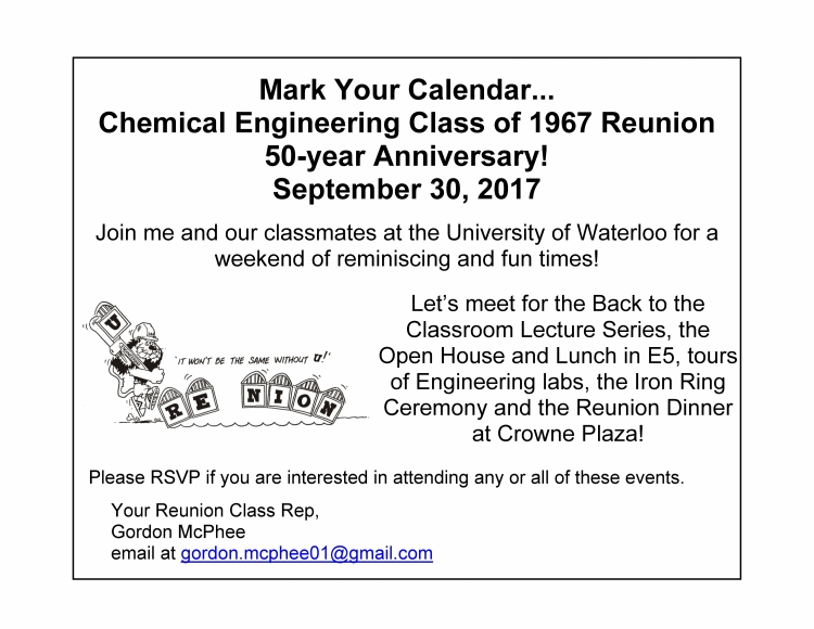 Class flyer - Chemical 1967