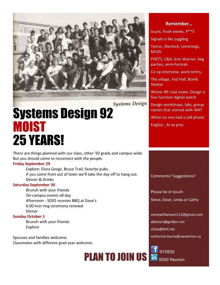 Class flyer - Systems Design 1992