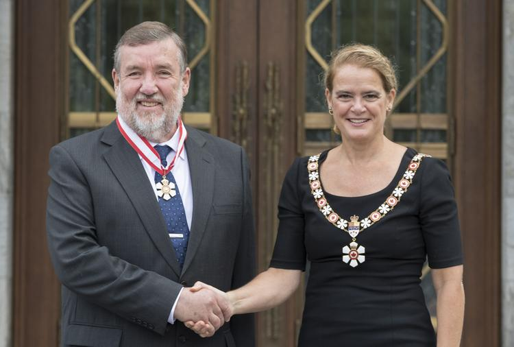Keith Hipel and Julie Payette