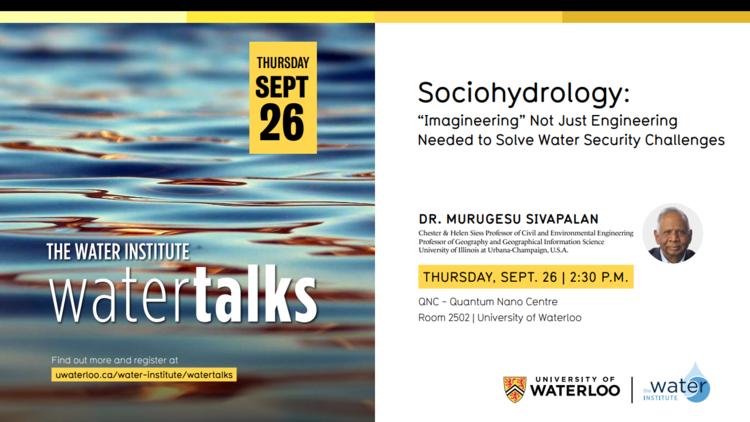 Sociohydrology WaterTalk with Dr. Sivapalan