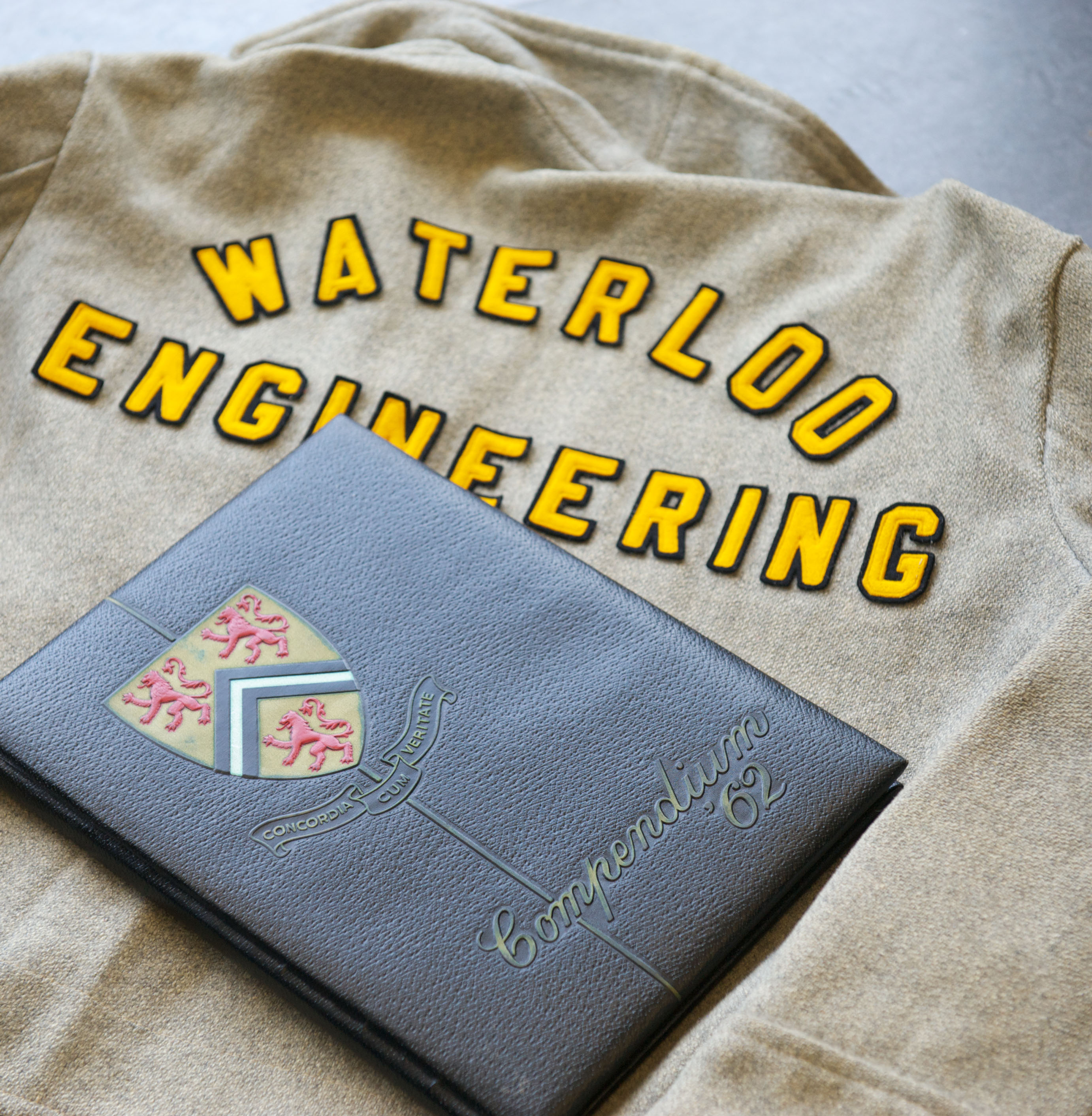 Waterloo Engineering jacket and yearbook