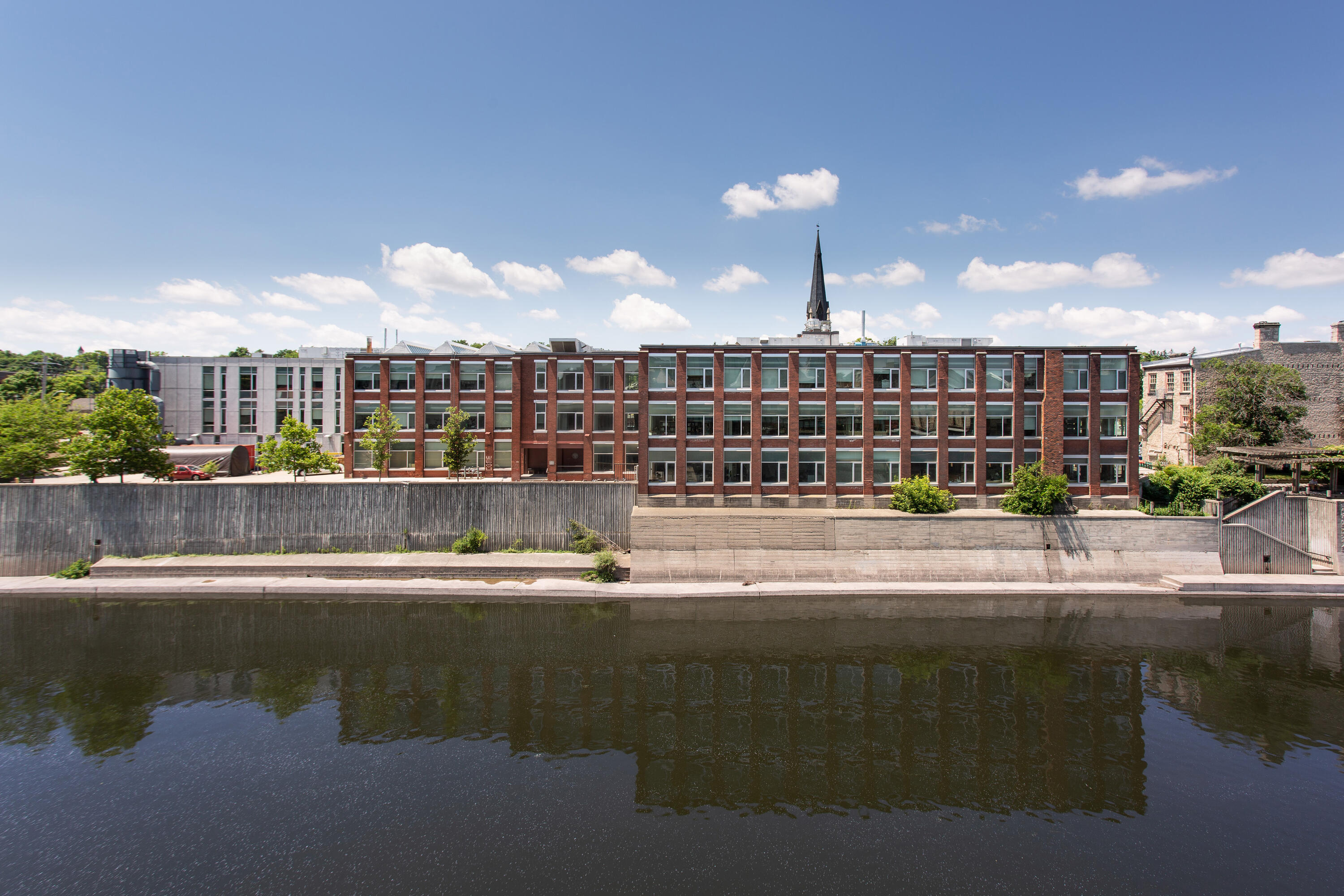 Photo of School of Architecture in front of water in Cambridge
