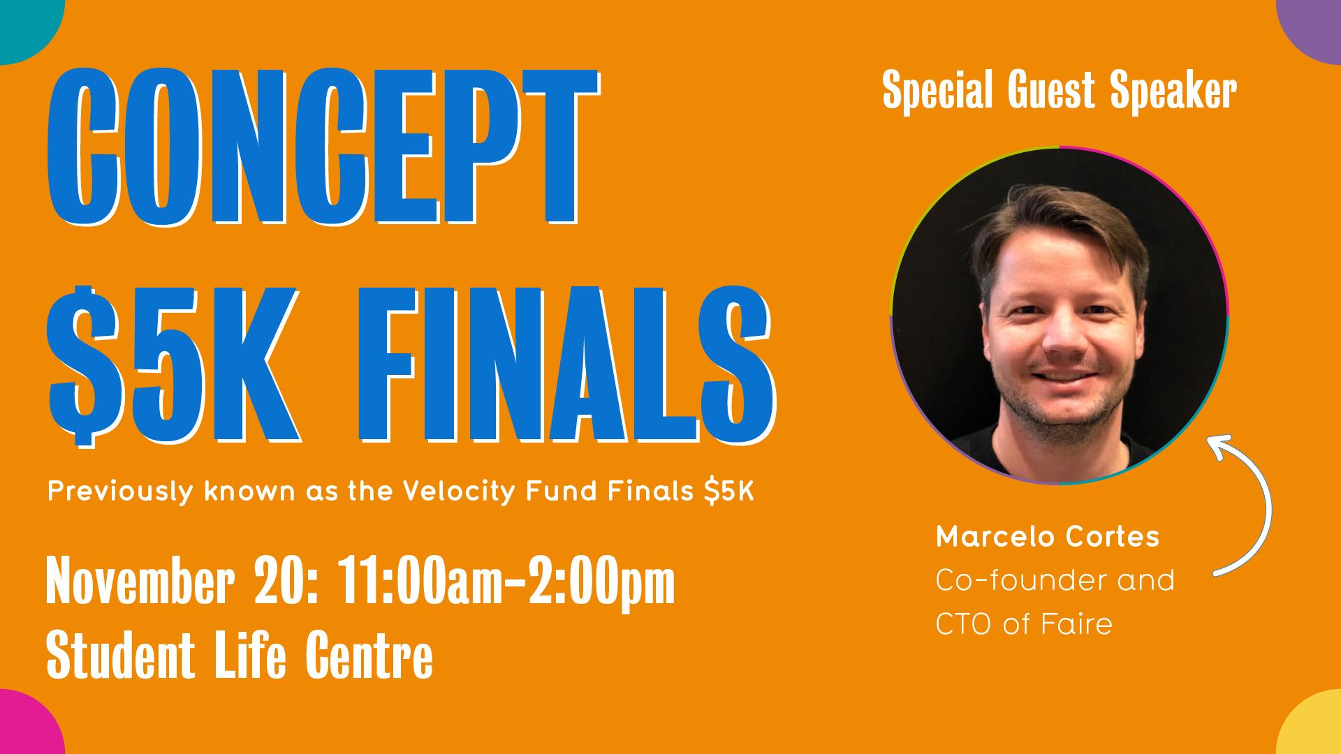 Concept $5k finals flyer