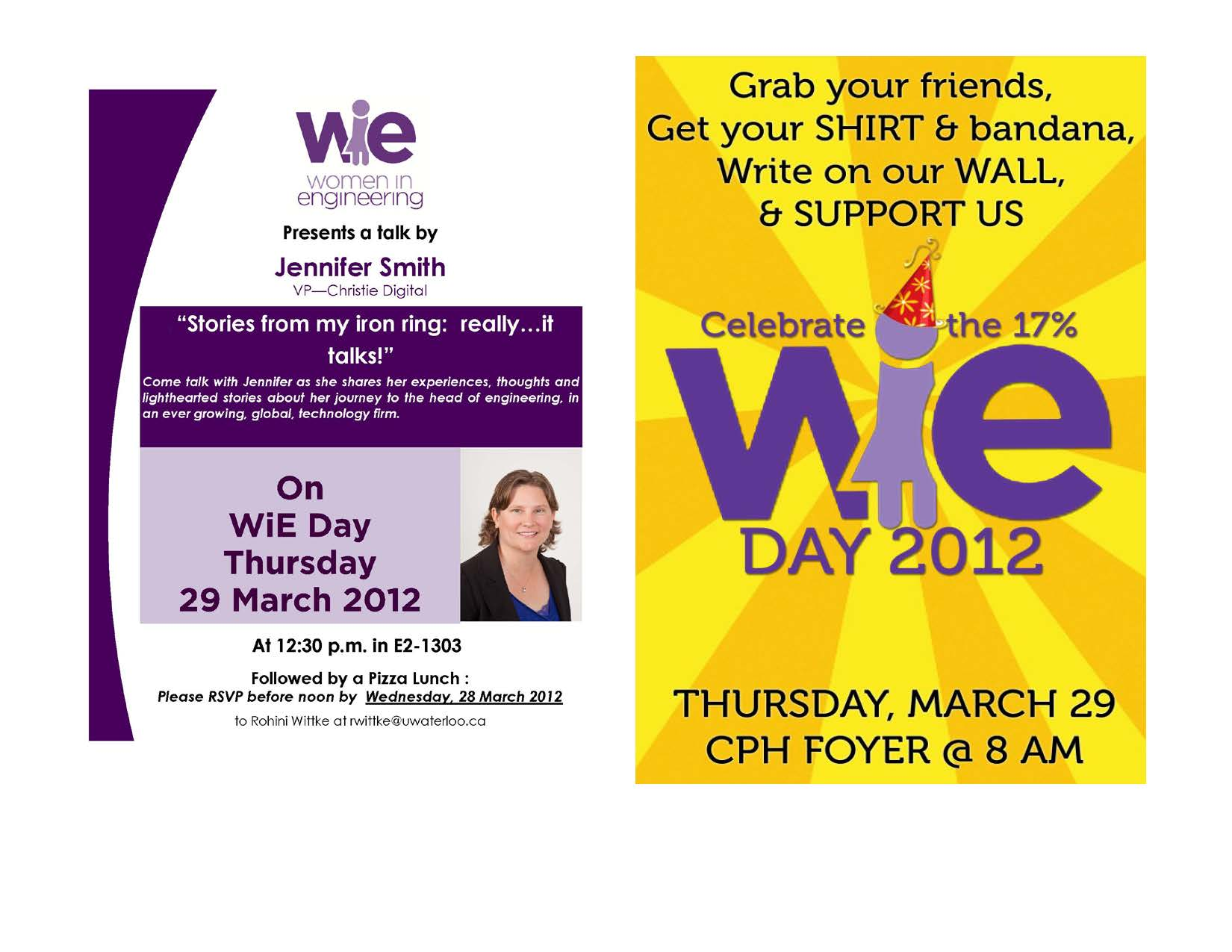 Women in Engineering Day Celebration March 29, 2012
