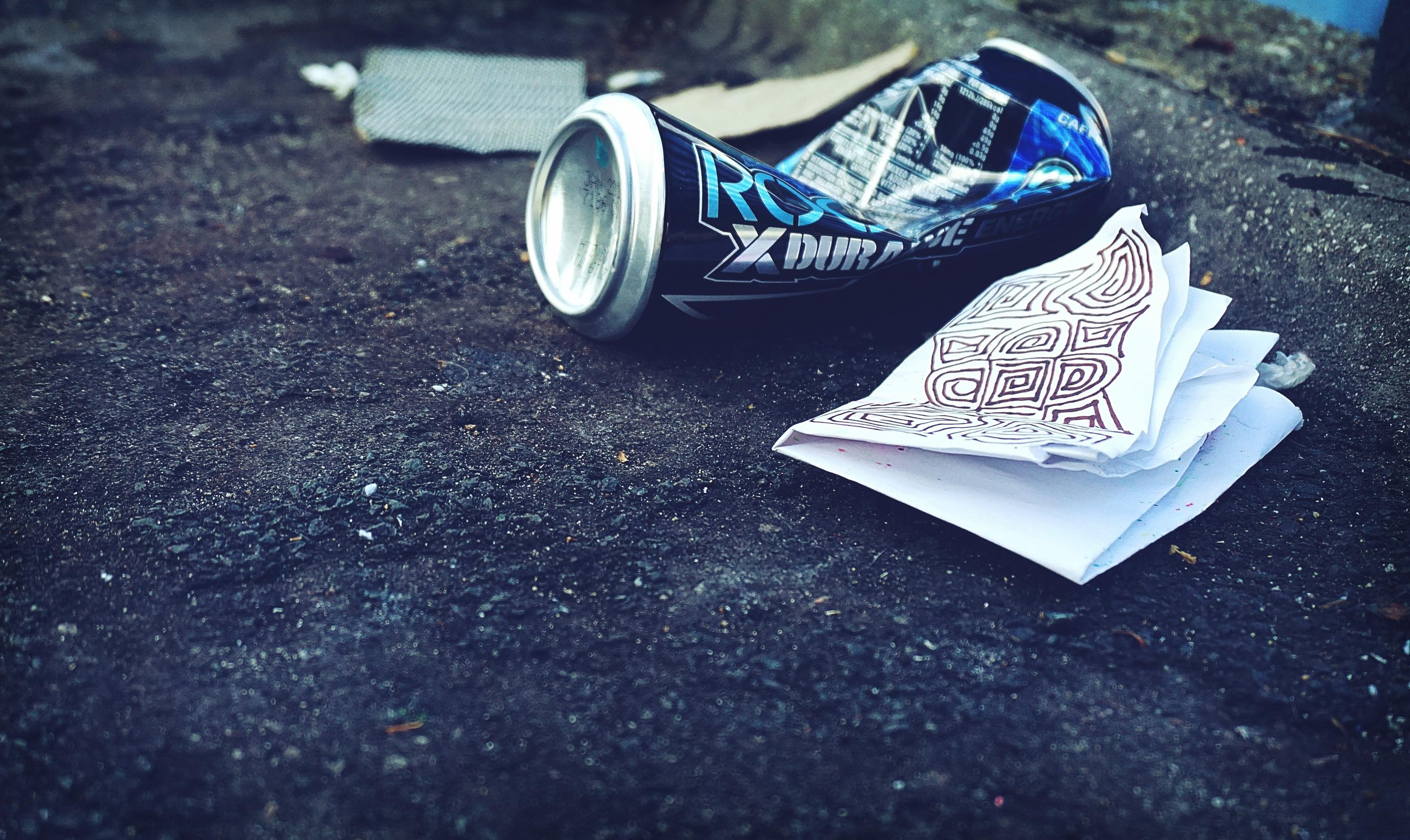 Litter on a road-Photo by Suzy Hazelwood from Pexels