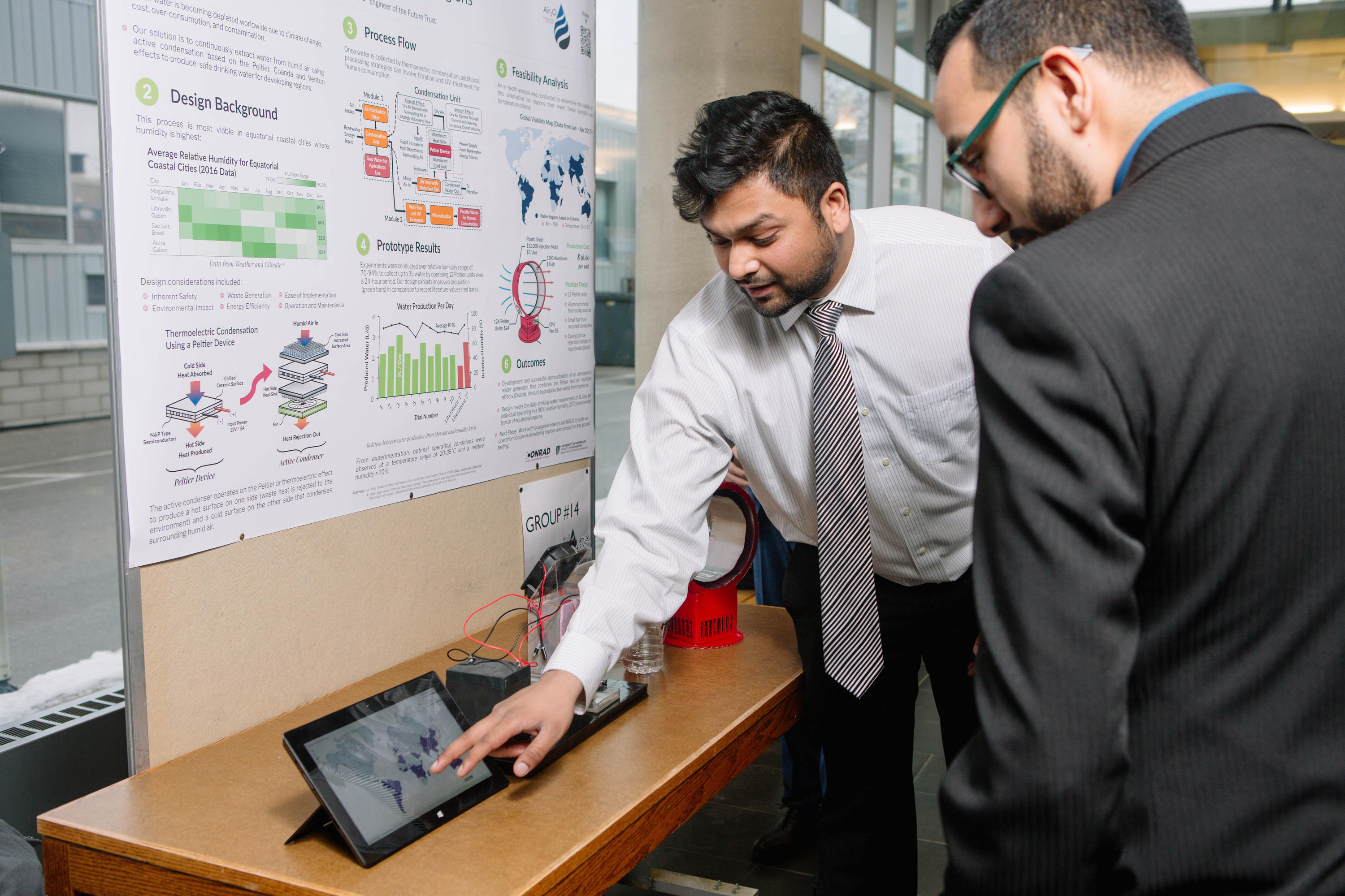 Chemical Engineering student explains his capstone project