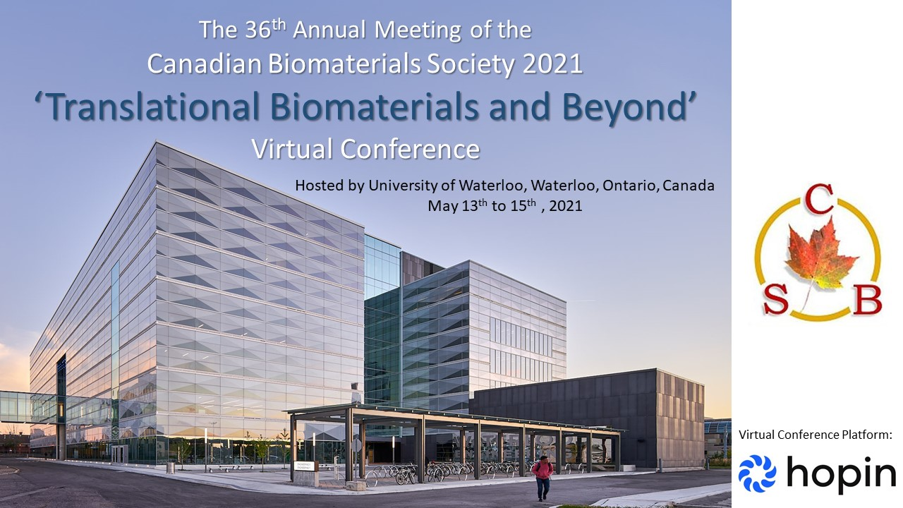 Canadian Biomaterials Society promotional flyer
