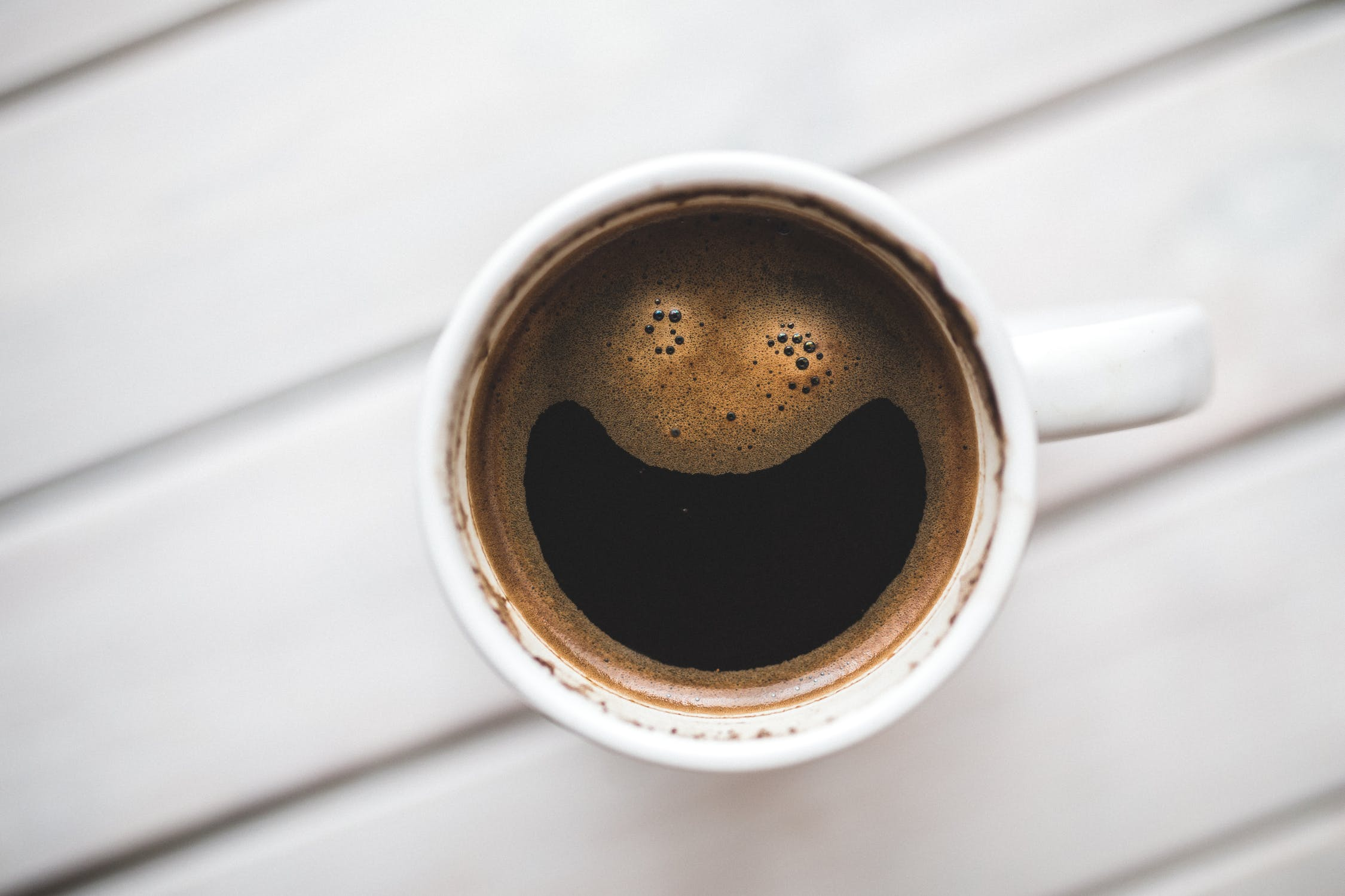 Coffee cup with smile