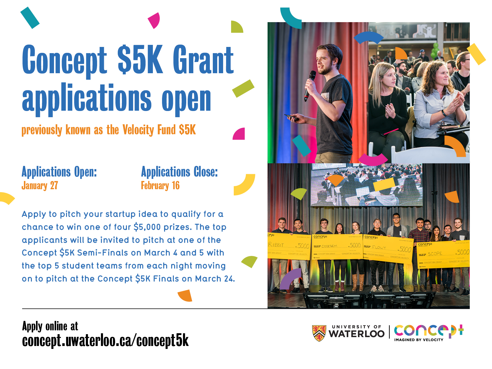 Concept 5k grant poster