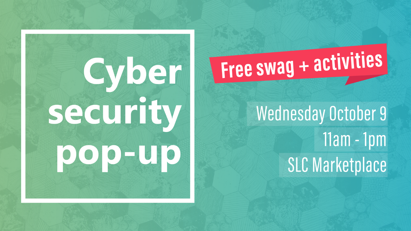 Cyber security pop-up flyer