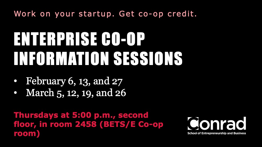 E Co-op Information Session banner