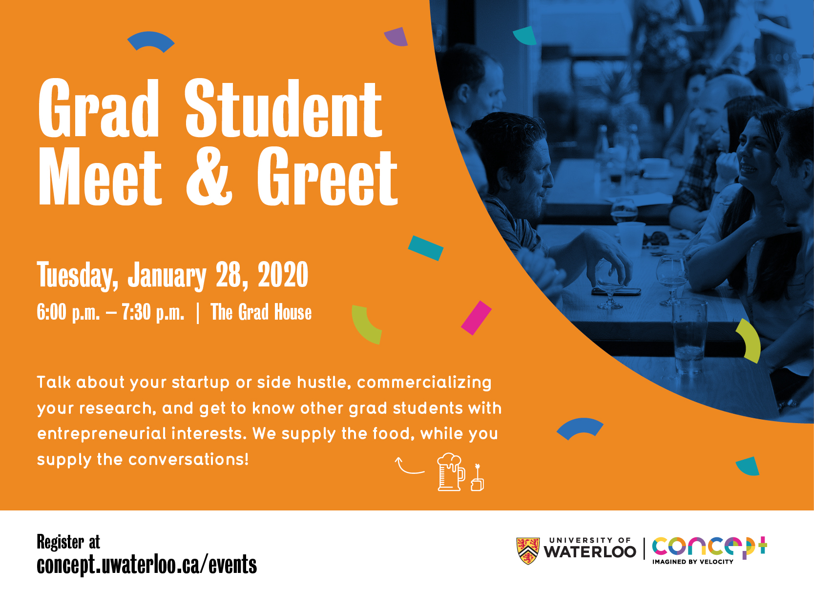 grad student meet and greet poster