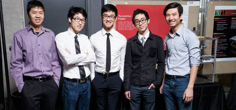 Landmine Boys, one of six winning teams of major Norman Esch Capstone Design Awards